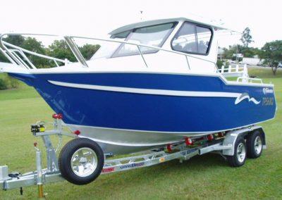 6.20m Vindicator Plate Alloy Half Cabin Boat on Belco Galvanized Trailer