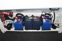 Tri Battery set up with Fresh Water & Deck Wash Pressure Pumps
