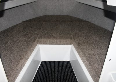 Vindicator 6.80m Carpeted front cabin walls & bunk cushions