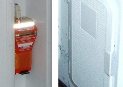 Fire-Extinguisher & Epirb  in Boxes with and without boors