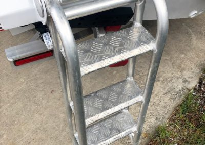 Vindicator Heavy Duty Transom Ladder great for getting into the boat.