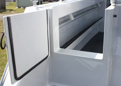 Vindicator Rear Transom Door - Easy access to the boat.
