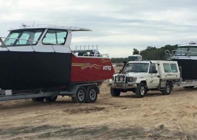 Two 7.20m Boats on Fraser Island